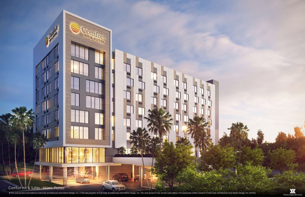 Rendered image of Comfort Inn and Suites Miami Airport Hotel
